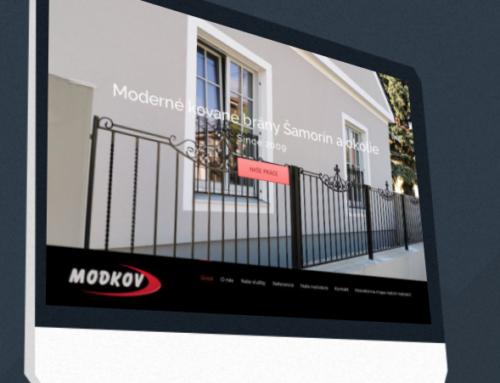 Prezentačná stránka firmy MODKOV.SK