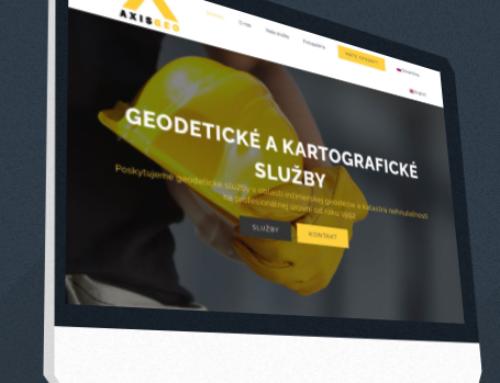 Dvojjazičná prezentačná stránka Axisgeo.sk